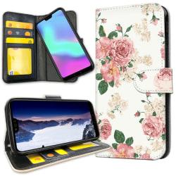 Huawei Mate 20 Pro - Plånboksfodral Retro Blommor