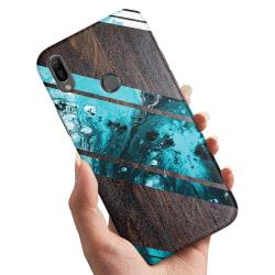 Huawei P30 Lite - Skal / Mobilskal Blått Konstmönster