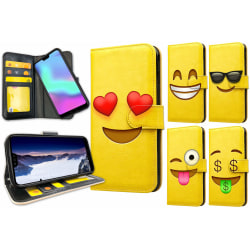 Huawei P30 - Plånboksfodral / Skal Emoji 3