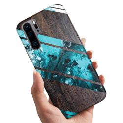 Huawei P30 Pro - Skal / Mobilskal Blått Konstmönster