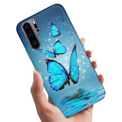 Huawei P30 Pro - Skal / Mobilskal Glittrande Fjärilar