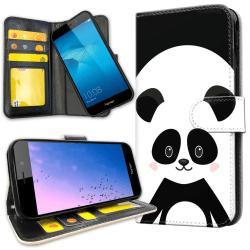 Huawei Y6 (2017) - Plånboksfodral Cute Panda