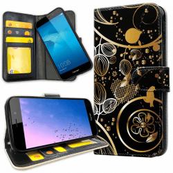 Huawei Y6 (2017) - Plånboksfodral Guldmönster gold