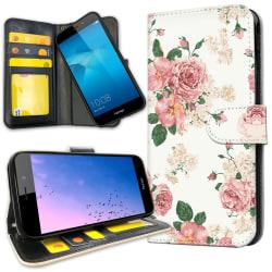 Huawei Y6 (2017) - Plånboksfodral Retro Blommor