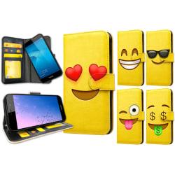 Huawei Y6 (2017) - Plånboksfodral / Skal Emoji 7