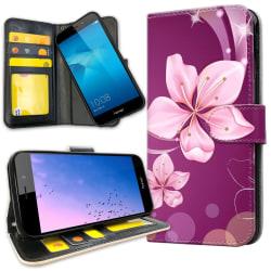 Huawei Y6 (2017) - Plånboksfodral Vit Blomma Vit
