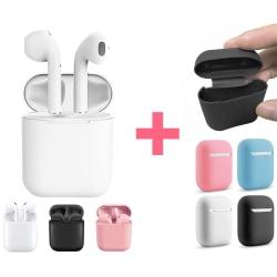 InPods - AutoConnect - Hörlurar Touch - Bluetooth + Silikonskydd Vit