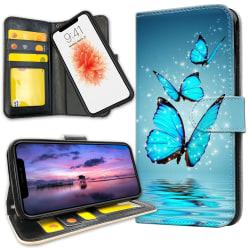 iPhone 11 - Plånboksfodral Glittrande Fjärilar