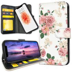 iPhone 11 - Plånboksfodral Retro Blommor