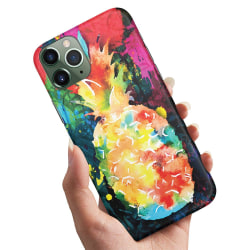 iPhone 12 Mini - Skal / Mobilskal Regnbåg Ananas