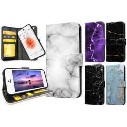 iPhone 5/5S/SE - Marmor Plånboksfodral / Skal 5