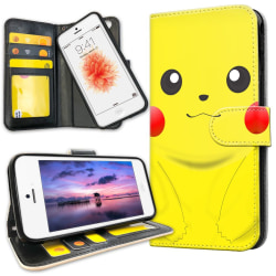 iPhone 5/5S/SE - Plånboksfodral Pikachu / Pokemon
