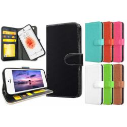 iPhone 5/5S/SE - Plånboksfodral / Skal med Magnet Röd