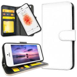 iPhone 5/5S/SE - Plånboksfodral Vit Vit