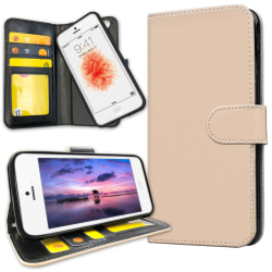 iPhone 5C - Plånboksfodral Beige