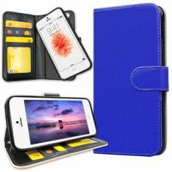 iPhone 5C - Plånboksfodral Blå blue