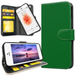 iPhone 5C - Plånboksfodral Grön grå