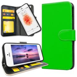 iPhone 5C - Plånboksfodral Limegrön grå