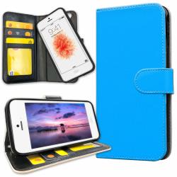 iPhone 5C - Plånboksfodral Ljusblå
