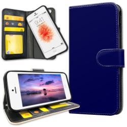 iPhone 5C - Plånboksfodral Mörkblå darkblue
