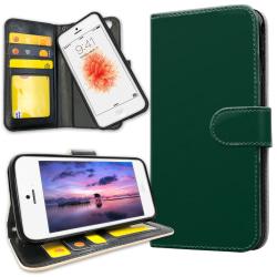 iPhone 5C - Plånboksfodral Mörkgrön grå