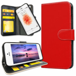 iPhone 5C - Plånboksfodral Röd