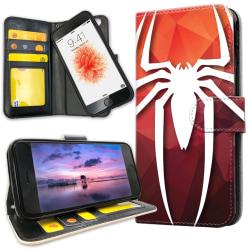 iPhone 6/6s Plus - Plånboksfodral Spider-Man Symbol