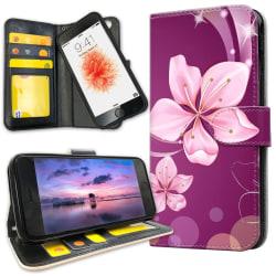 iPhone 6/6s Plus - Plånboksfodral Vit Blomma Vit