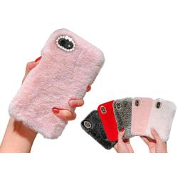 iPhone 6/6s Plus - Skal / Mobilskal Fluffig Päls - Flera färger Ljusrosa