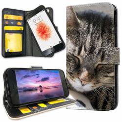 iPhone 7 Plus - Plånboksfodral Sovande Katt