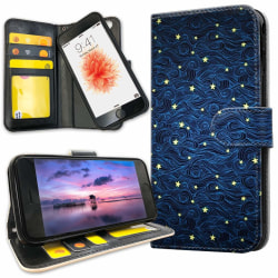 iPhone 8 - Plånboksfodral Stjärnmönster