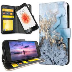 iPhone 8 Plus - Plånboksfodral Konstmönster