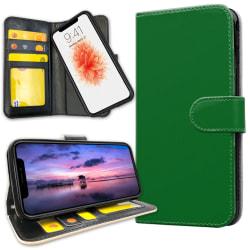 iPhone X - Plånboksfodral Grön Grey