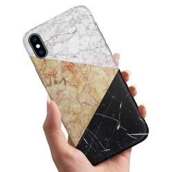 iPhone XS Max - Skal / Mobilskal Marmorskivor