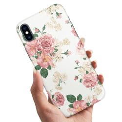 iPhone XS Max - Skal / Mobilskal Retro Blommor