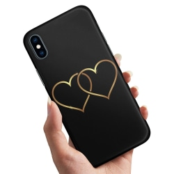 iPhone XS - Skal / Mobilskal Double Hearts