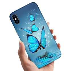 iPhone XS - Skal / Mobilskal Glittrande Fjärilar