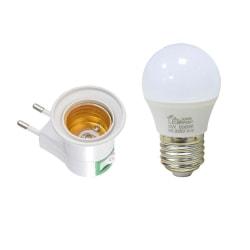 Lamphållare E27 sockel - Fäst i vägguttaget Vit