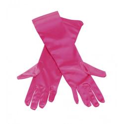 Långa Handskar - Rosa - Halloween & Maskerad