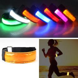 2-Pack - Armband LED / Reflex som Lyser - Reflexband Grön