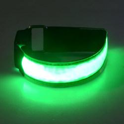 2-Pack - Armband LED / Reflex som Lyser - Reflexband - Grön Grön