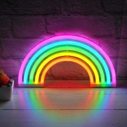 LED-lampa / Nattlampa Neon - Regnbåge multifärg