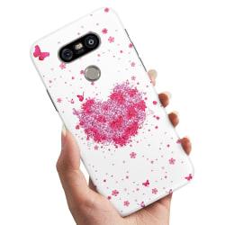 LG G5 - Skal / Mobilskal Blomhjärta