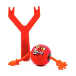 Mad Ball Slangbella - Skjut iväg en arg gummiboll Röd