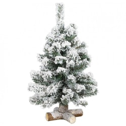 Mini Julgran 60 cm - Vit med Snö - Jul - Juldekoration Vit