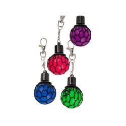 Mini Stressboll / Klämboll i Nät - Nyckelring