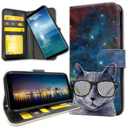 OnePlus 5 - Plånboksfodral Cat Space