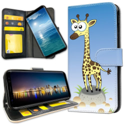 OnePlus 5 - Plånboksfodral Tecknad Giraff