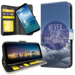 OnePlus 5T - Plånboksfodral Never Stop Dreaming