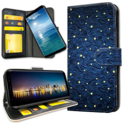 OnePlus 5T - Plånboksfodral Stjärnmönster